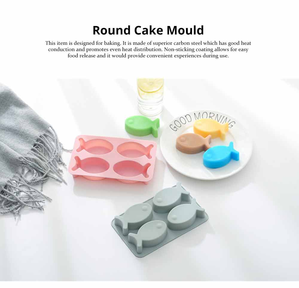 Cartoon Cake Mould Fish Shape, Nonstick Baking Mold, Soap Mold 0