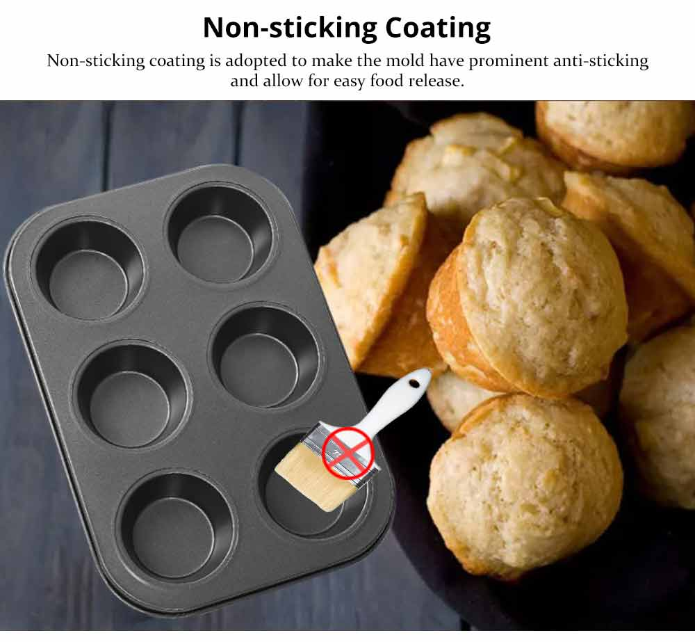 Nonstick Muffin Baking Pan Tart Mold, Durable Round Cake Mould 3