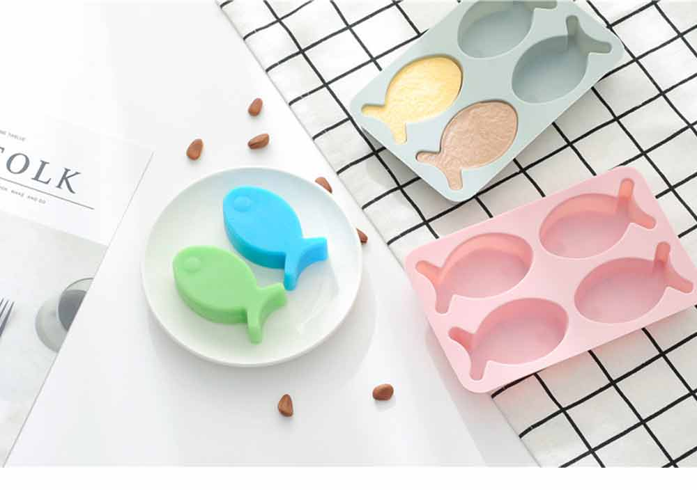 Cartoon Cake Mould Fish Shape, Nonstick Baking Mold, Soap Mold 7