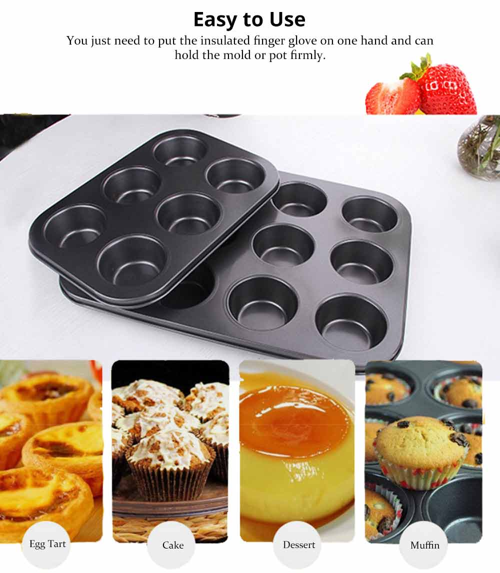 Nonstick Muffin Baking Pan Tart Mold, Durable Round Cake Mould 4