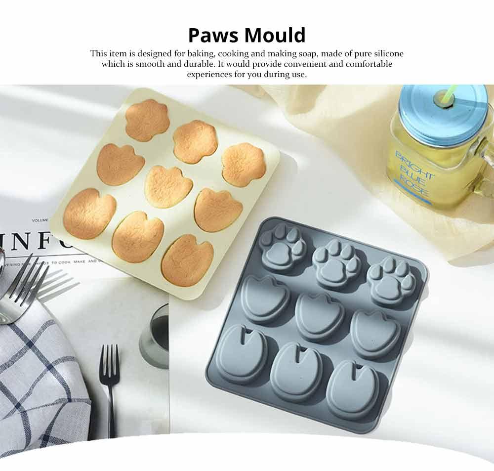 Cartoon Cake Mould, Paws Nonstick Baking Mold, Durable Soap Mold 6