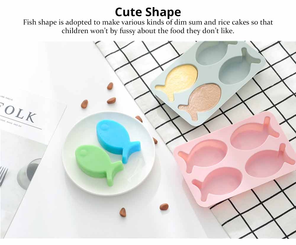 Cartoon Cake Mould Fish Shape, Nonstick Baking Mold, Soap Mold 3