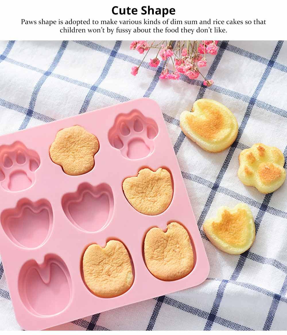 Cartoon Cake Mould, Paws Nonstick Baking Mold, Durable Soap Mold 9