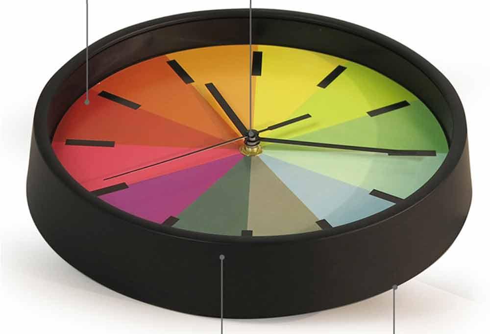 Rainbow Wall Clock - Modern Design Silence Round Clock 2