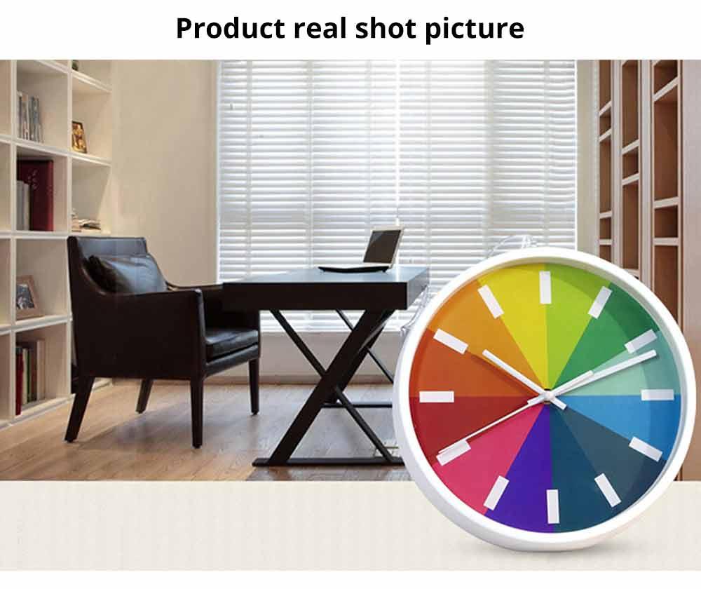 Rainbow Wall Clock - Modern Design Silence Round Clock 5