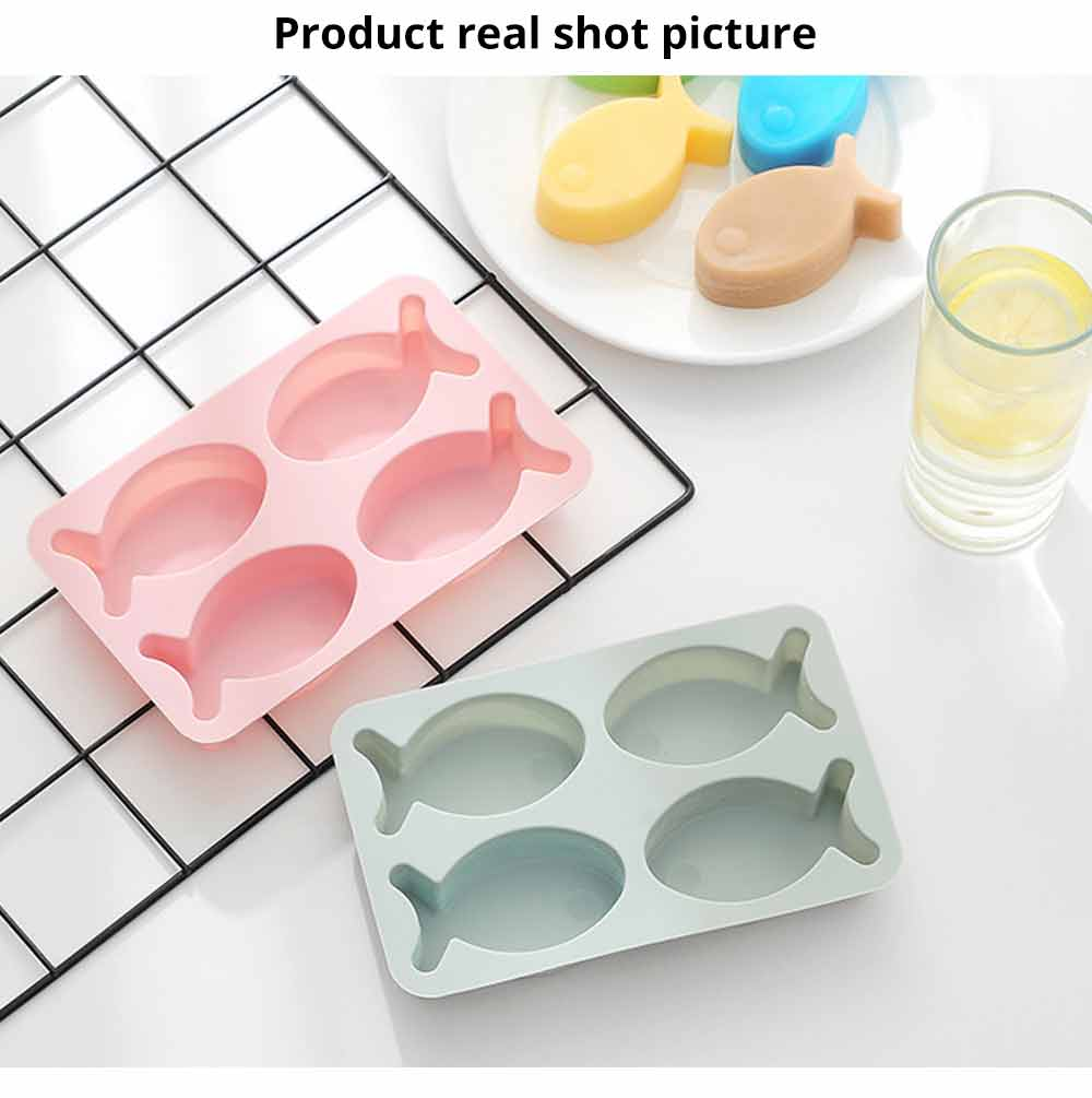 Cartoon Cake Mould Fish Shape, Nonstick Baking Mold, Soap Mold 5