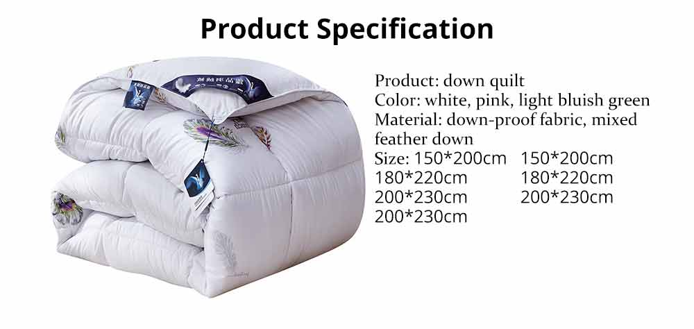 Goose Down Quilt - Single Double King Size Bed Sheet, Duvet Cover, Sets Duvets 7