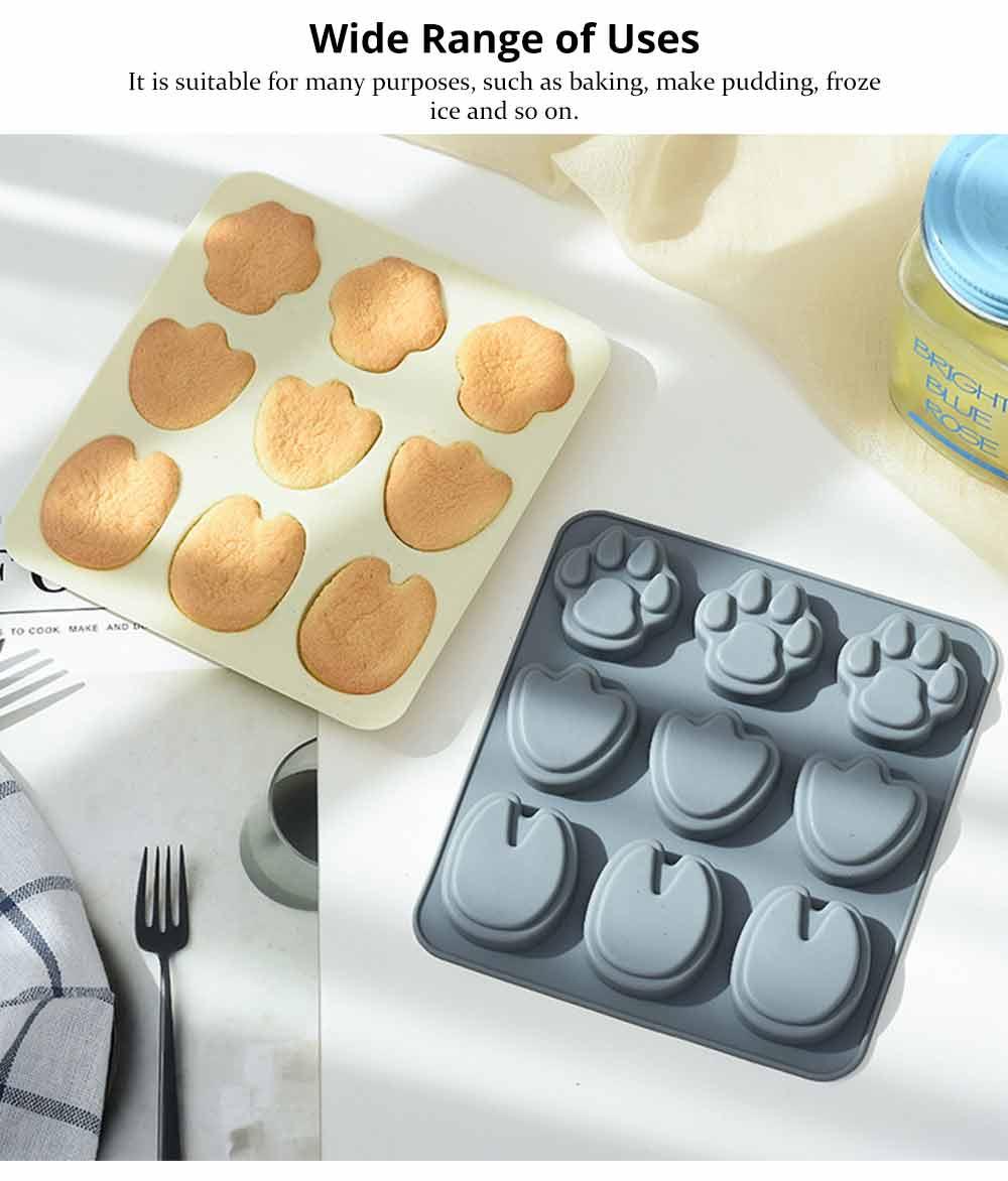 Cartoon Cake Mould, Paws Nonstick Baking Mold, Durable Soap Mold 10