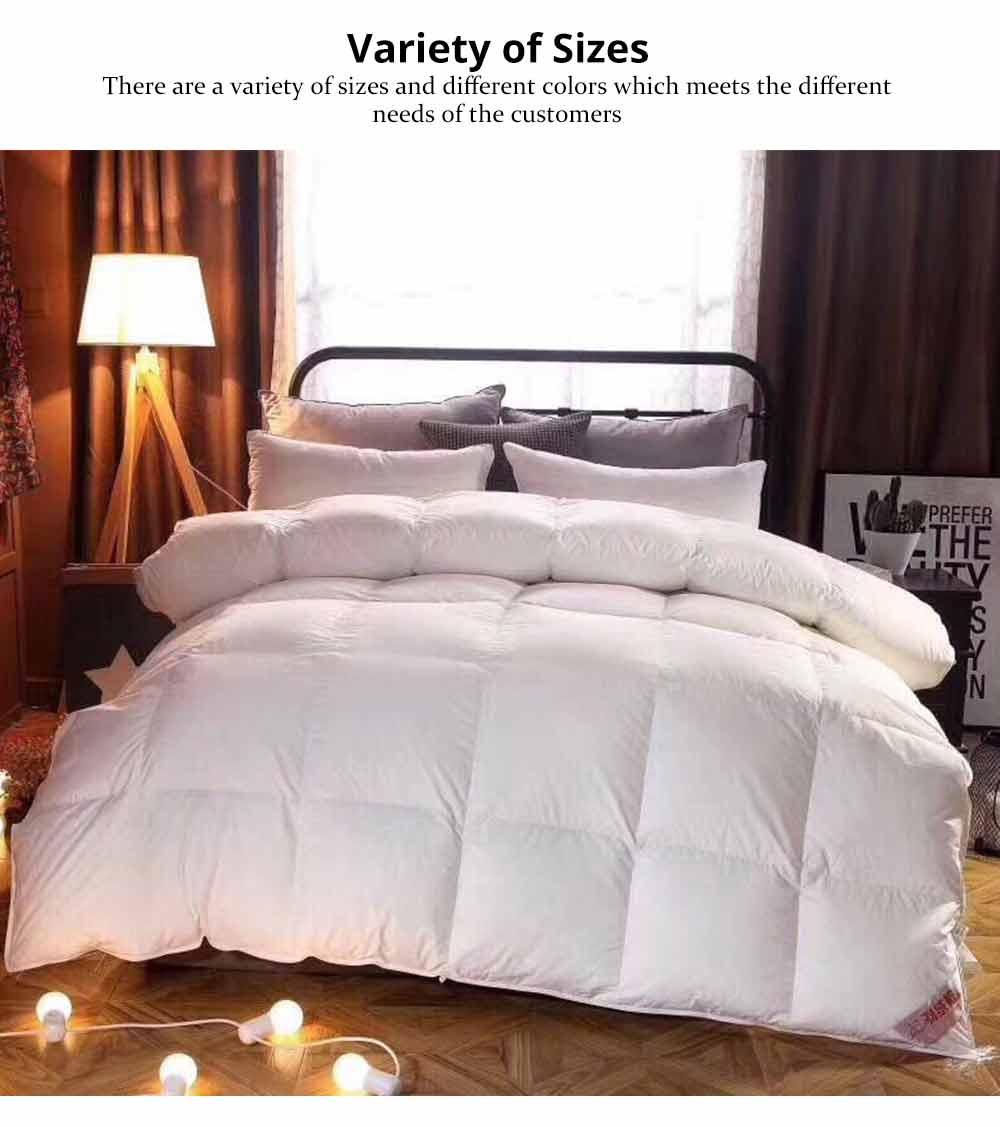 95 Goose Down Quilt  - Thicken Winter Peluche Duvet, Single Double King Size Bed Sheet, Sets Duvets 4