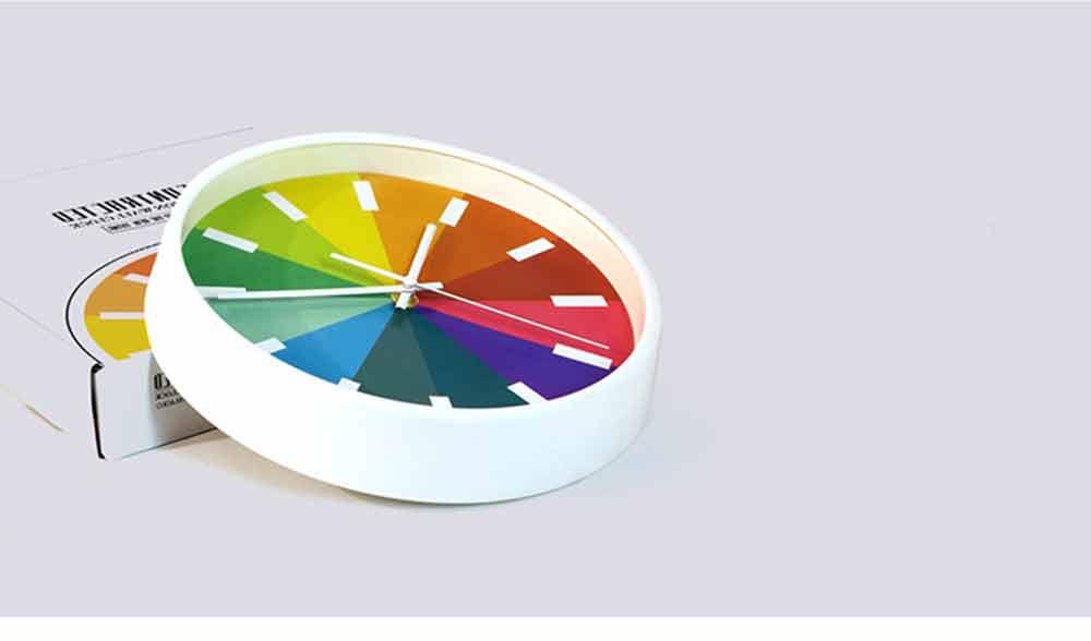 Rainbow Wall Clock - Modern Design Silence Round Clock 6