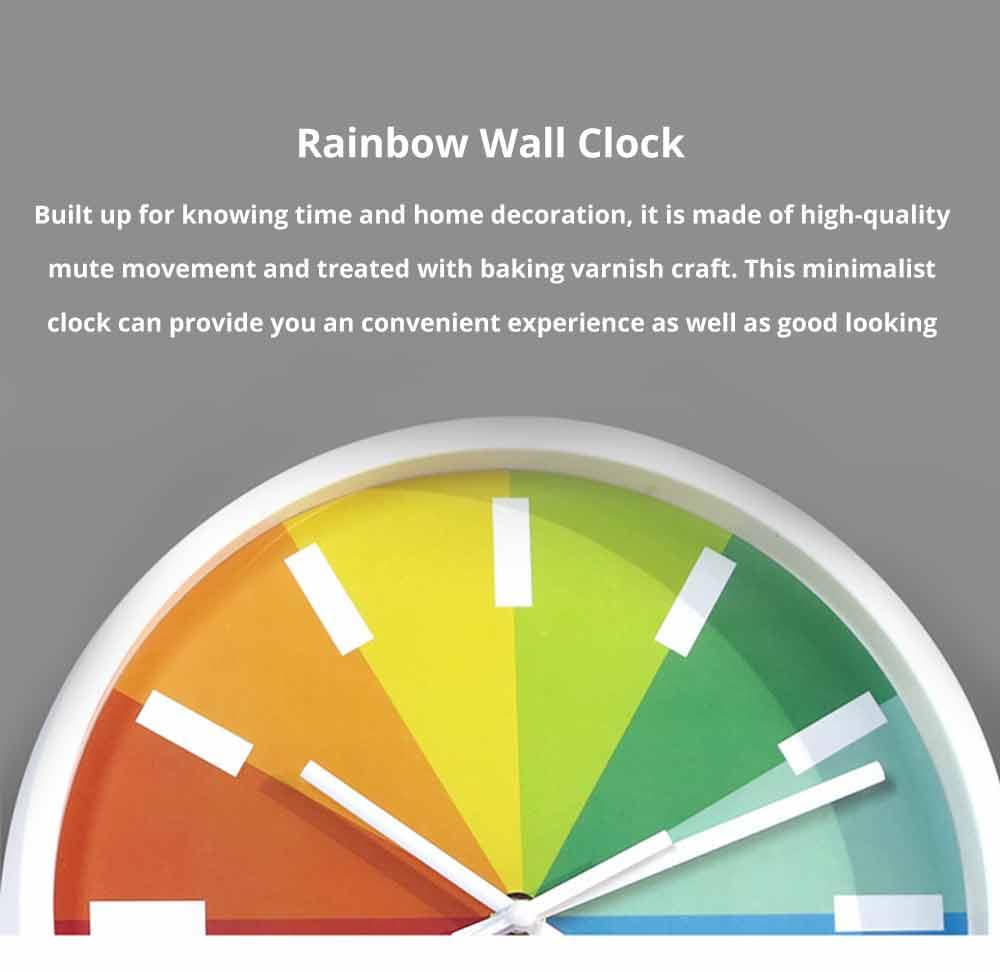 Rainbow Wall Clock - Modern Design Silence Round Clock 0