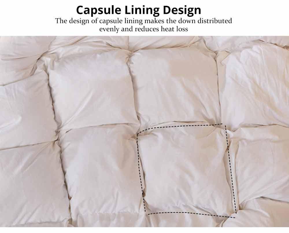 95 Goose Down Quilt  - Thicken Winter Peluche Duvet, Single Double King Size Bed Sheet, Sets Duvets 3