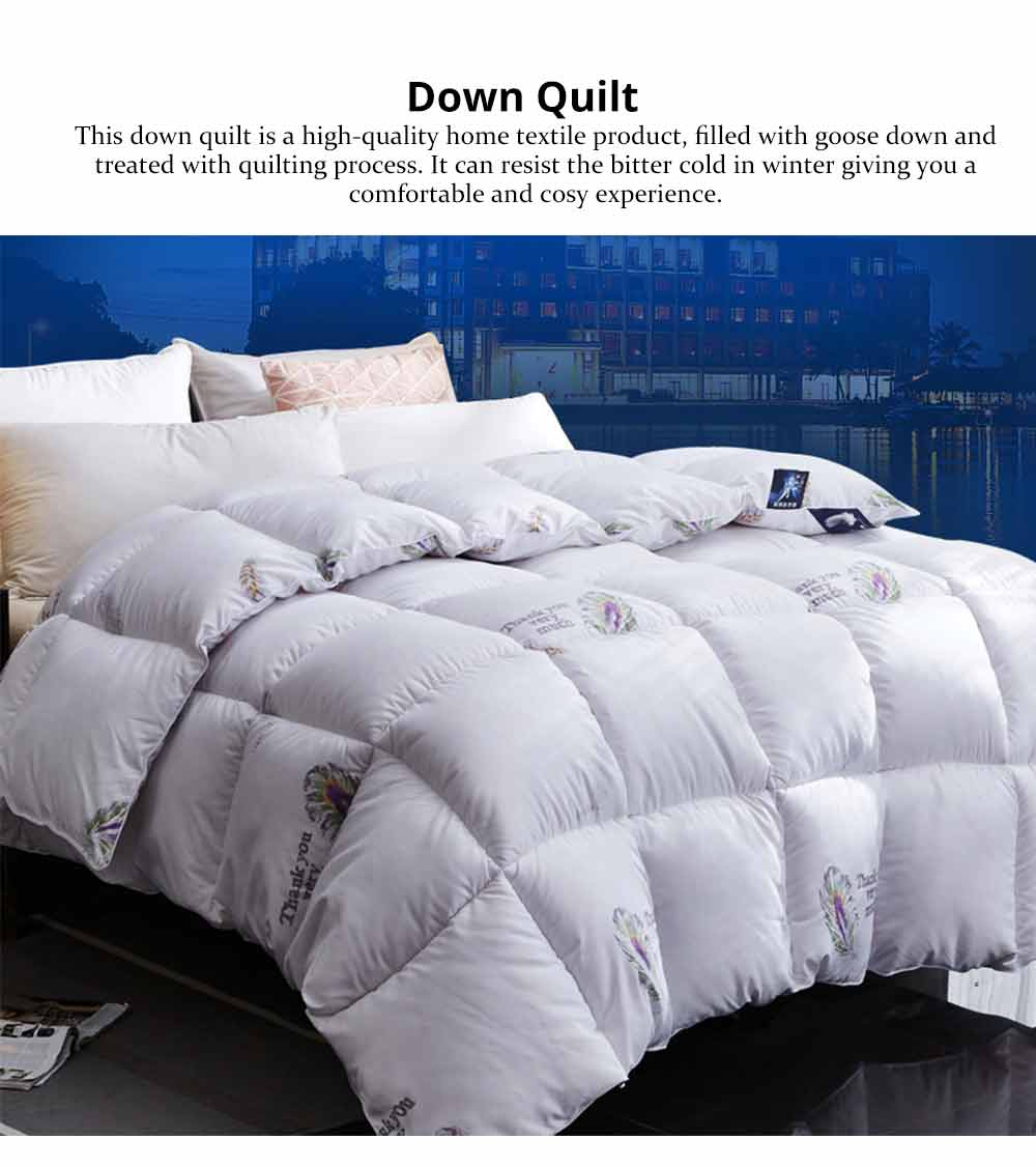 Goose Down Quilt - Single Double King Size Bed Sheet, Duvet Cover, Sets Duvets 0