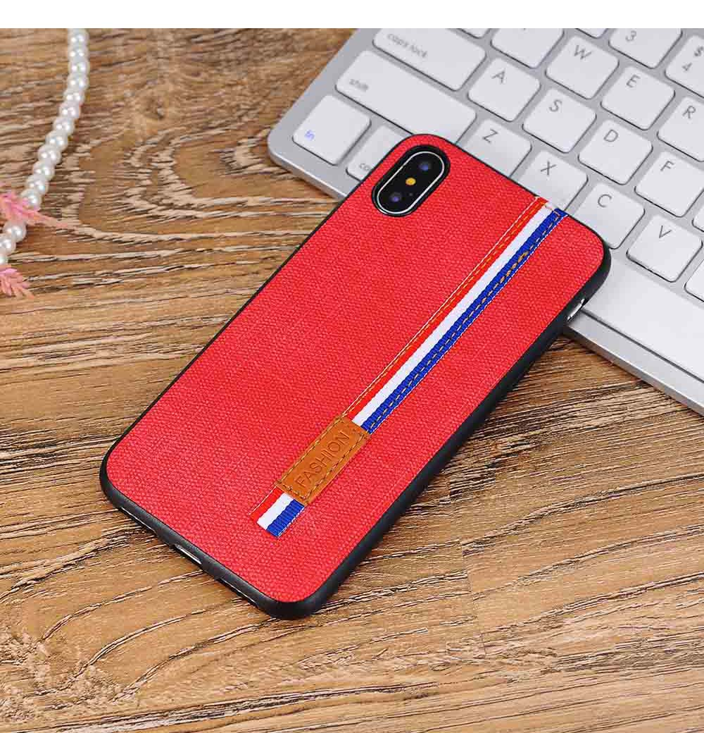 Oxford Fabric Phone Case, Minimalist Phone Case, Ultra-thin Soft Back Cover for iPhone 14