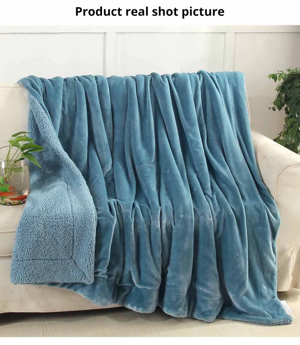Flannel Blanket Throw - Soft Warm Single Double King Bed Blanket, Throws 5