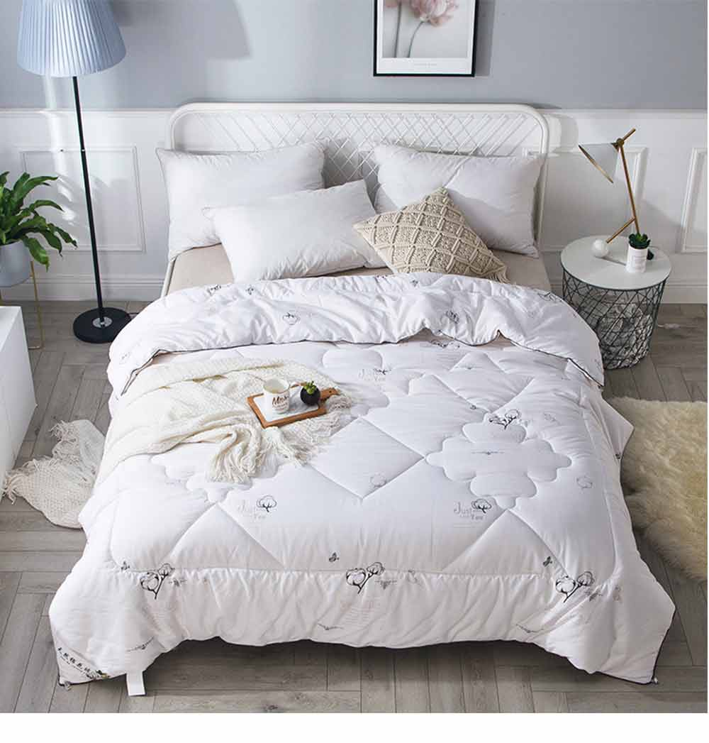 Organic Cotton Quilt - Thickened Single Double King Size Bed Sheet, Duvet Cover, Sets Duvets, Bedding Duvet 11