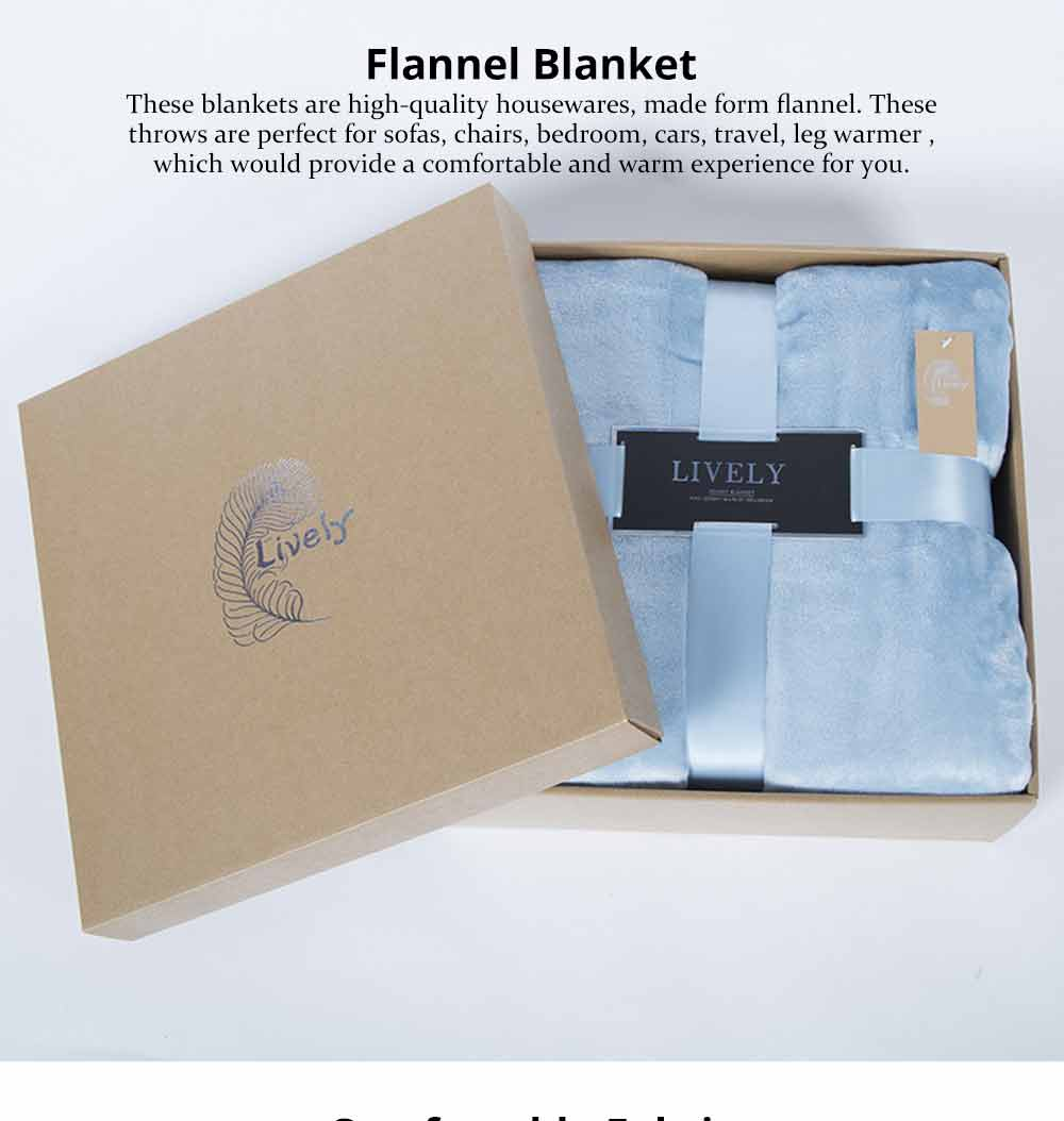 Flannel Blanket Single Double King Size, Soft Warm Thicken Bed Blanket, Throws 6