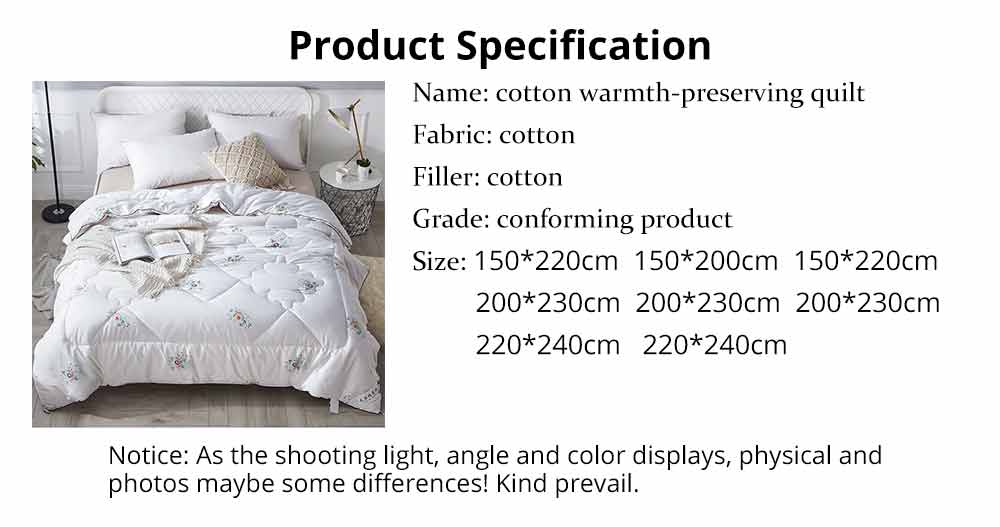 Organic Cotton Quilt - Thickened Single Double King Size Bed Sheet, Duvet Cover, Sets Duvets, Bedding Duvet 13