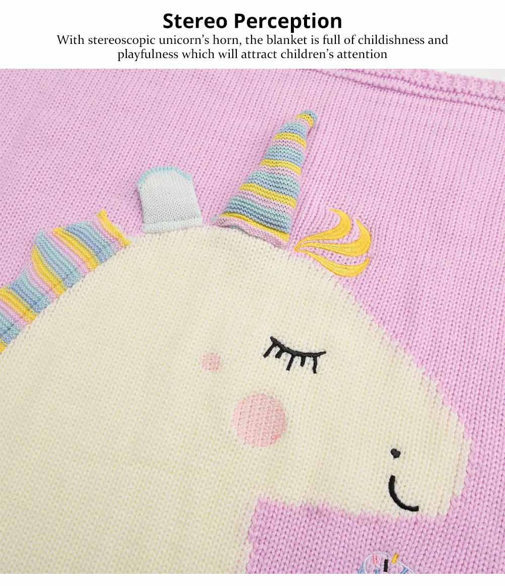 Unicorn Baby Blanket, Soft Warm Baby Throws, Stereoscopic Throws 8