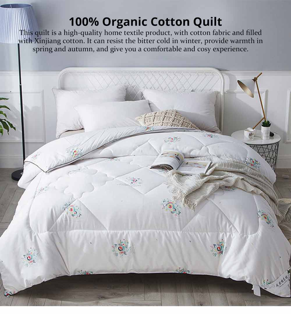 Organic Cotton Quilt - Thickened Single Double King Size Bed Sheet, Duvet Cover, Sets Duvets, Bedding Duvet 6