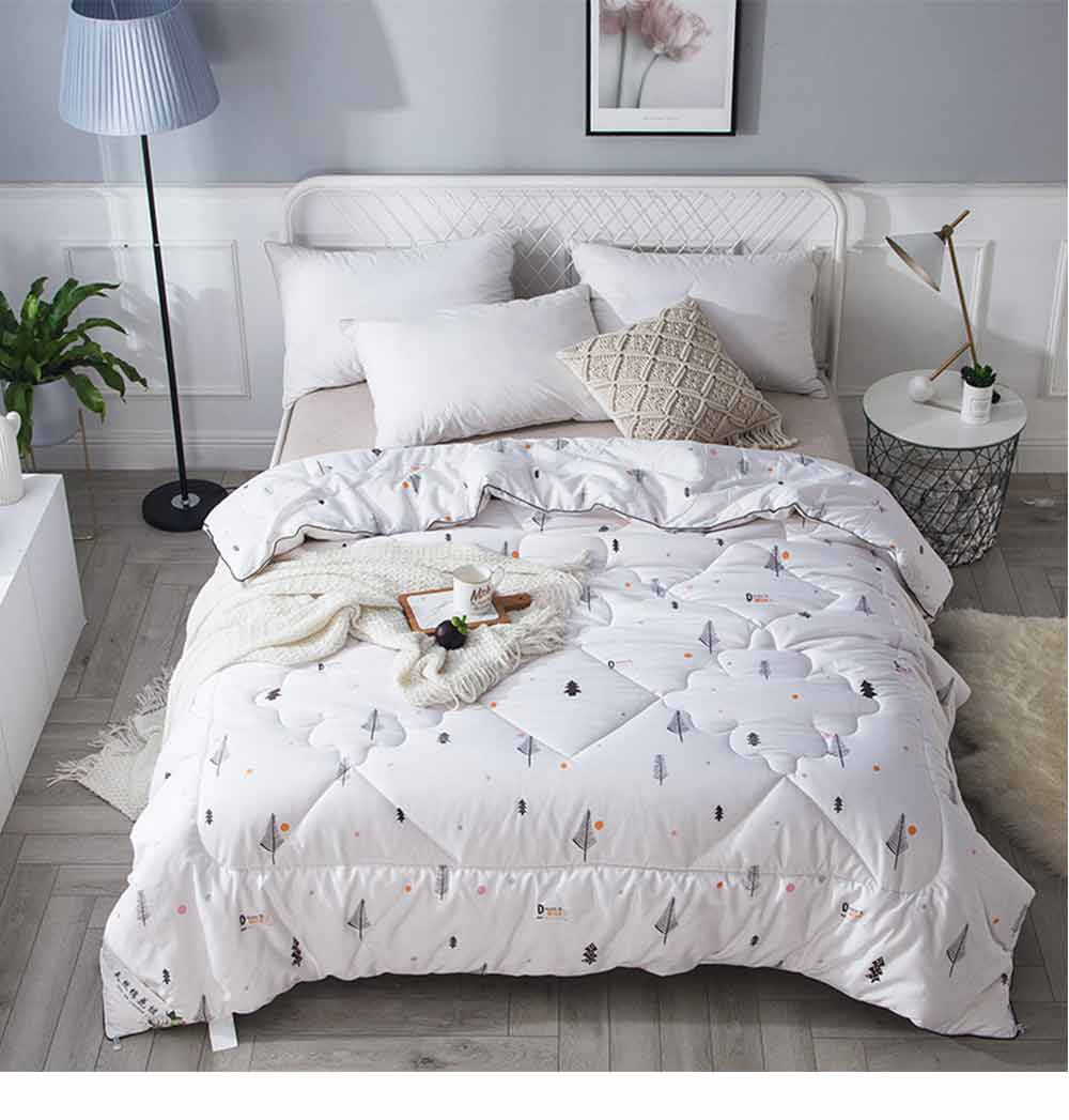 Organic Cotton Quilt - Thickened Single Double King Size Bed Sheet, Duvet Cover, Sets Duvets, Bedding Duvet 12