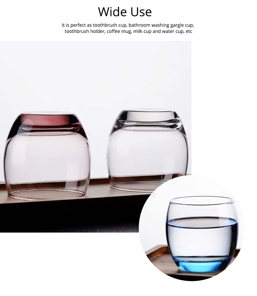 Transparent Toothbrush Cup, Exquisite Toothbrush Holder Glass Cup 5