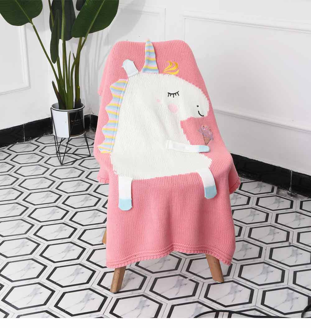 Unicorn Baby Blanket, Soft Warm Baby Throws, Stereoscopic Throws 12