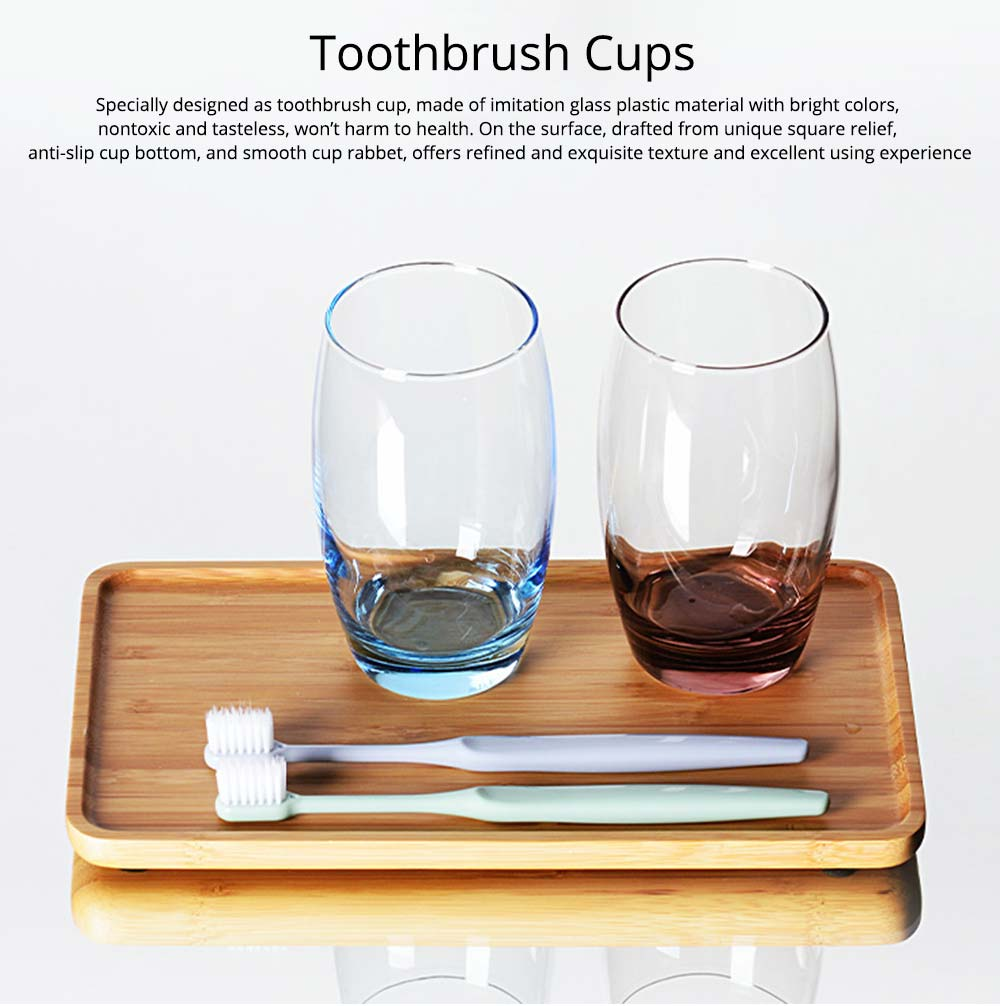 Bathroom Couple Cup, Transparent Toothbrush Cup For Household And Hotel Use 0