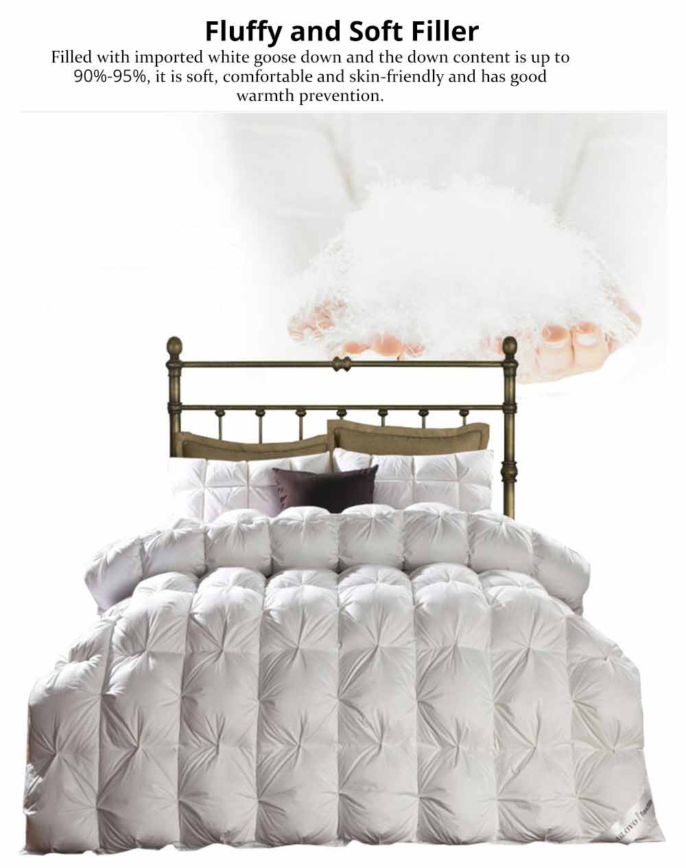 Eiderdown Quilt - Textile Printing Down Quilt, Sets Duvets, Bedding Duvet, Single Double King Size 2