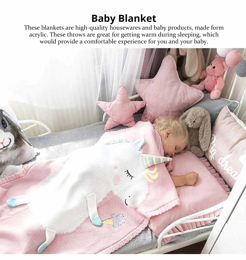 Unicorn Baby Blanket, Soft Warm Baby Throws, Stereoscopic Throws 6