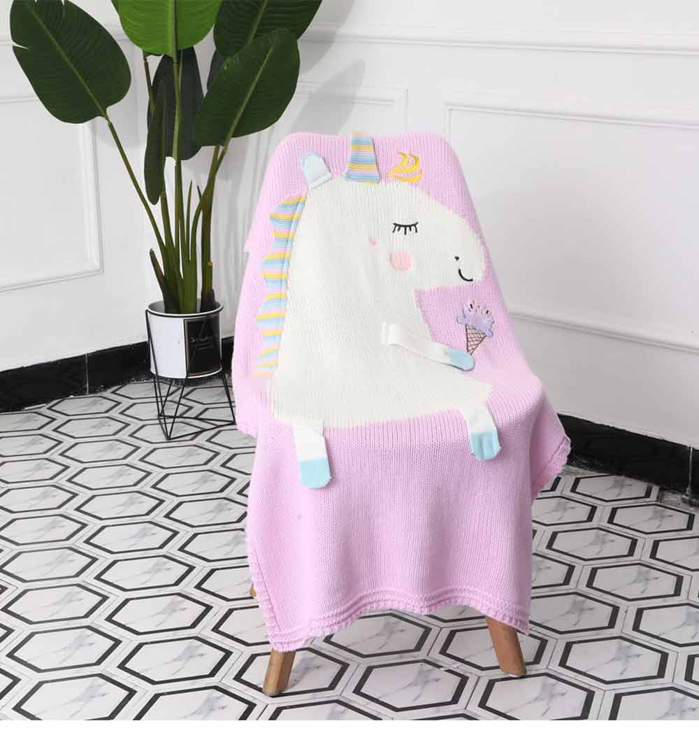Unicorn Baby Blanket, Soft Warm Baby Throws, Stereoscopic Throws 14