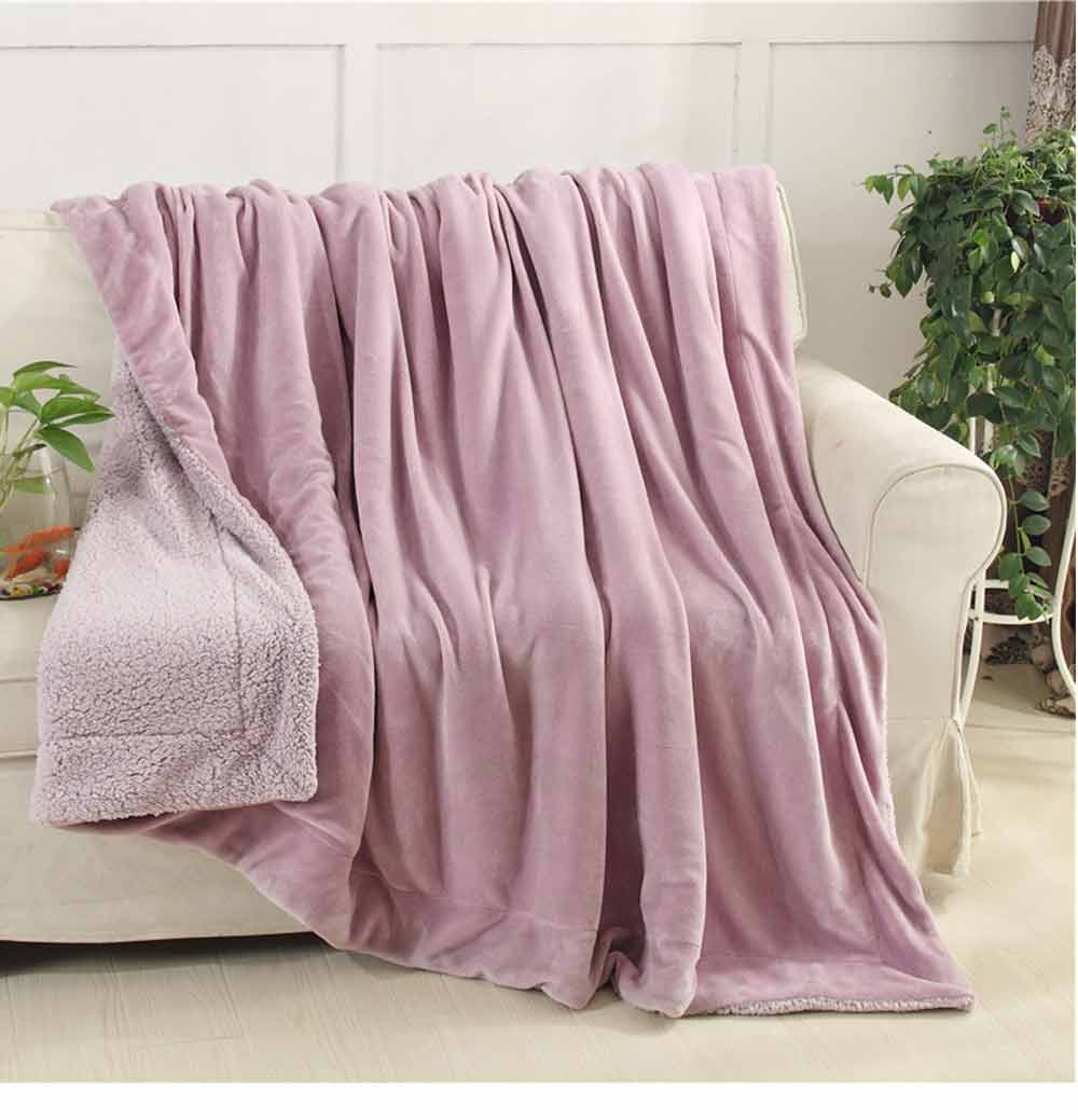 Flannel Blanket Throw - Soft Warm Single Double King Bed Blanket, Throws 12