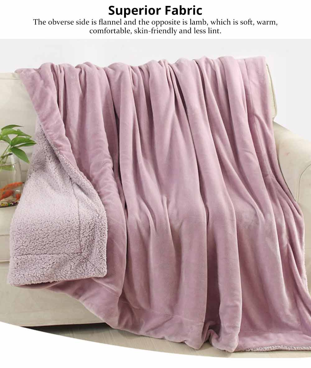 Flannel Blanket Throw - Soft Warm Single Double King Bed Blanket, Throws 1