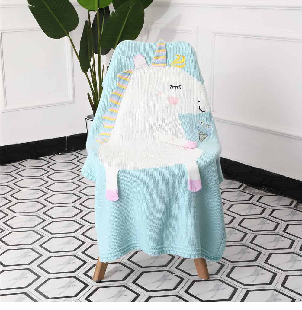 Unicorn Baby Blanket, Soft Warm Baby Throws, Stereoscopic Throws 13