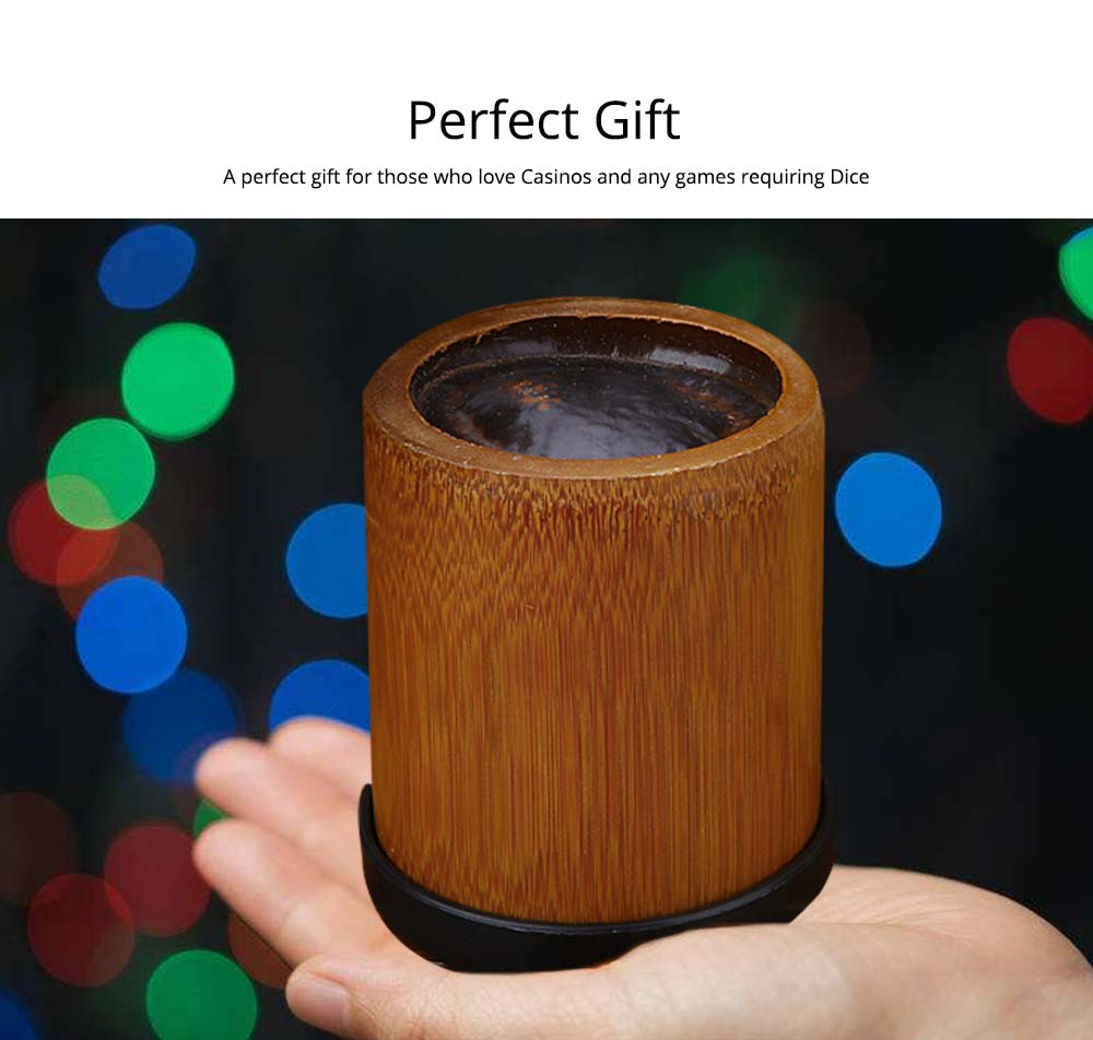 Bamboo Dice Cup Durable Anti-impact Dice Storage, Party Bar KTV and Casino Pub Gambling Poker Game Dice Cup 4