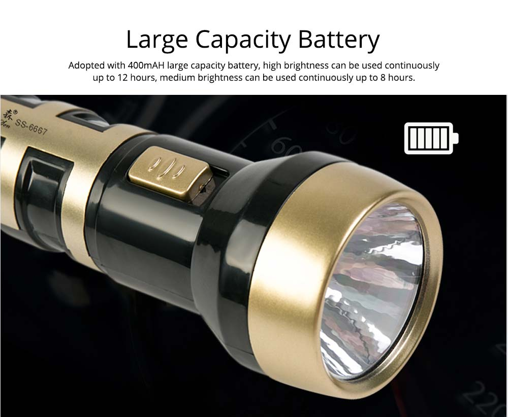 Ultra Bright Flashlight, Outdoors Chargeable Emergency LED Light Torch for Hiking Camping Picnic 8