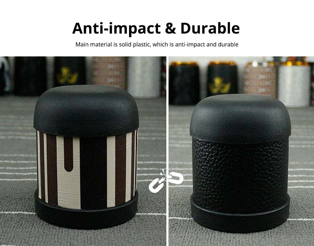 Luxurious PU Leather Noiseless Dice Cup for Party Bar Pub Poker Game, Anti-impact Durable Dice Storage Dice Cup 2