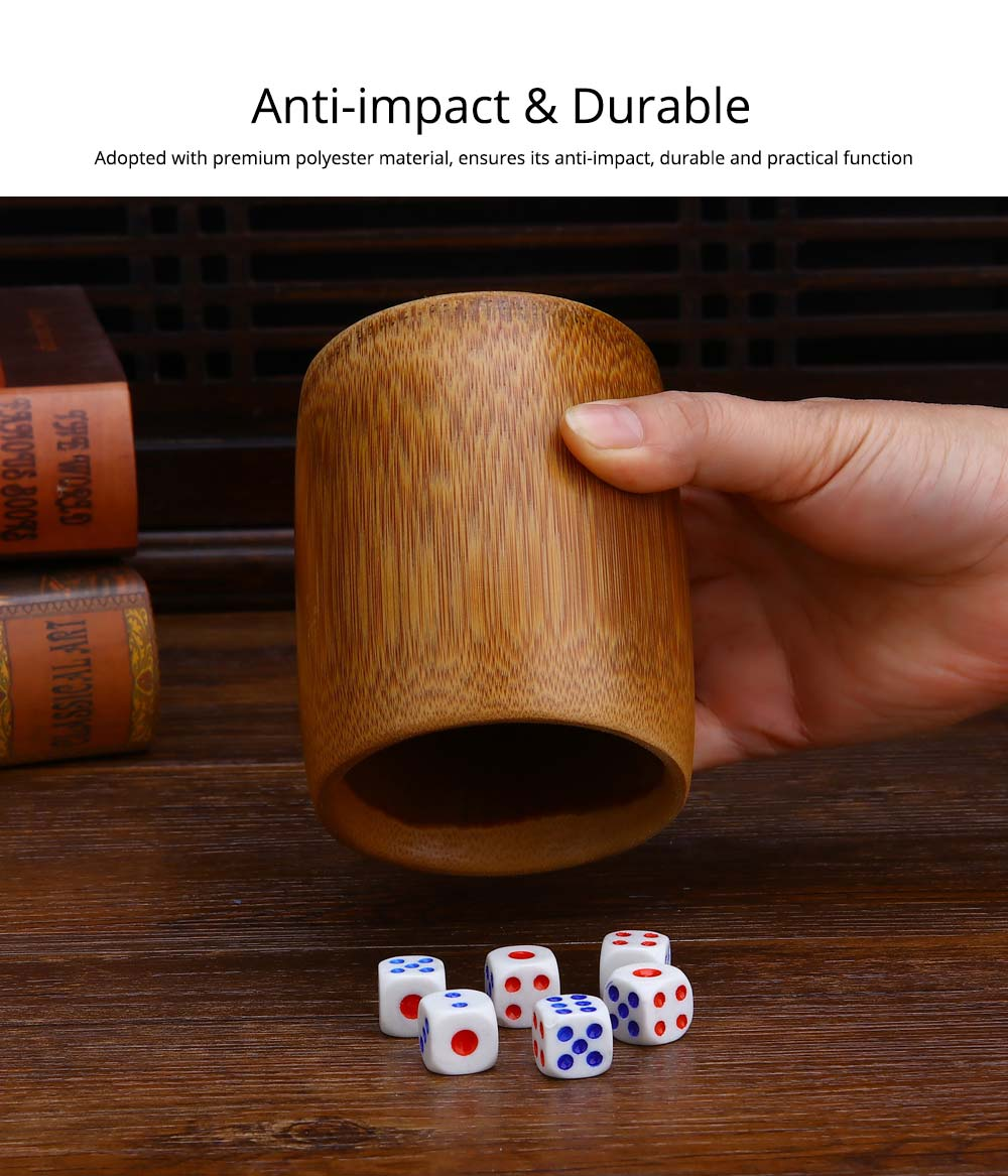 Bamboo Dice Cup Durable Anti-impact Dice Storage, Party Bar KTV and Casino Pub Gambling Poker Game Dice Cup 9