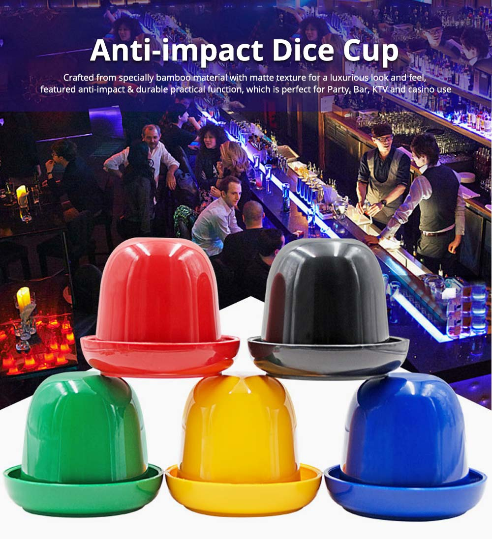 Durable Plastic Dice Cups Anti-impact Dice Storage for Party Bar KTV and Casino Pub Gambling Poker Game 0