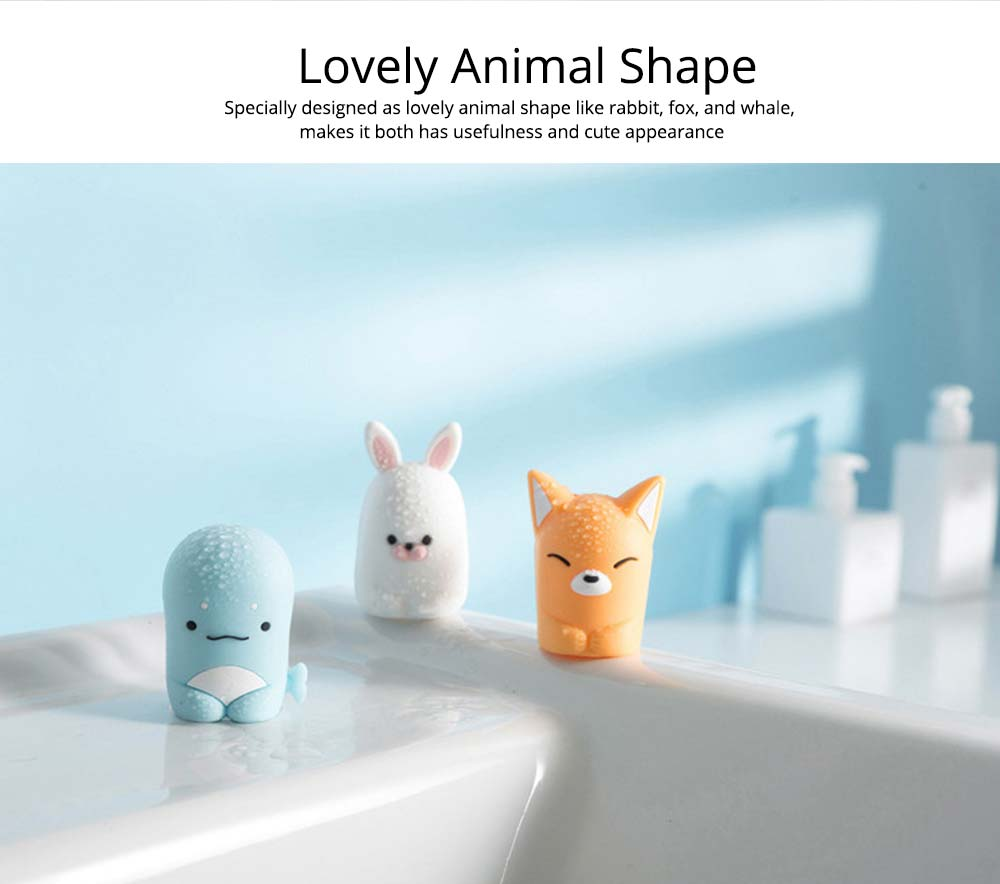Suction Toothbrush Holder, Mini Animal Wall Mounted Toothbrush Organizer, Inverted Hanging Toothbrush Holder 1