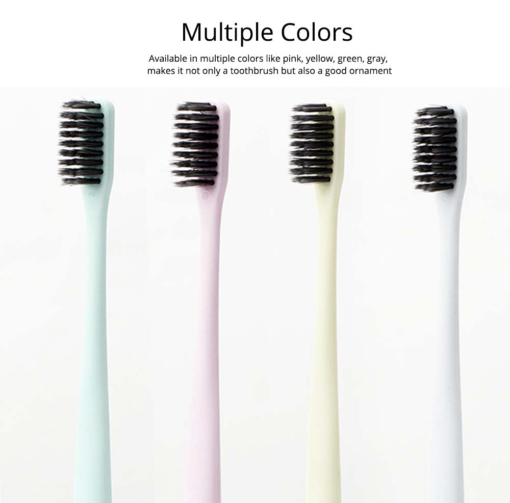 Household Ultra Soft Toothbrushes Available for Men Women Kids, Hotel Travel Use Bamboo Charcoal Toothbrush 4 Pieces 5