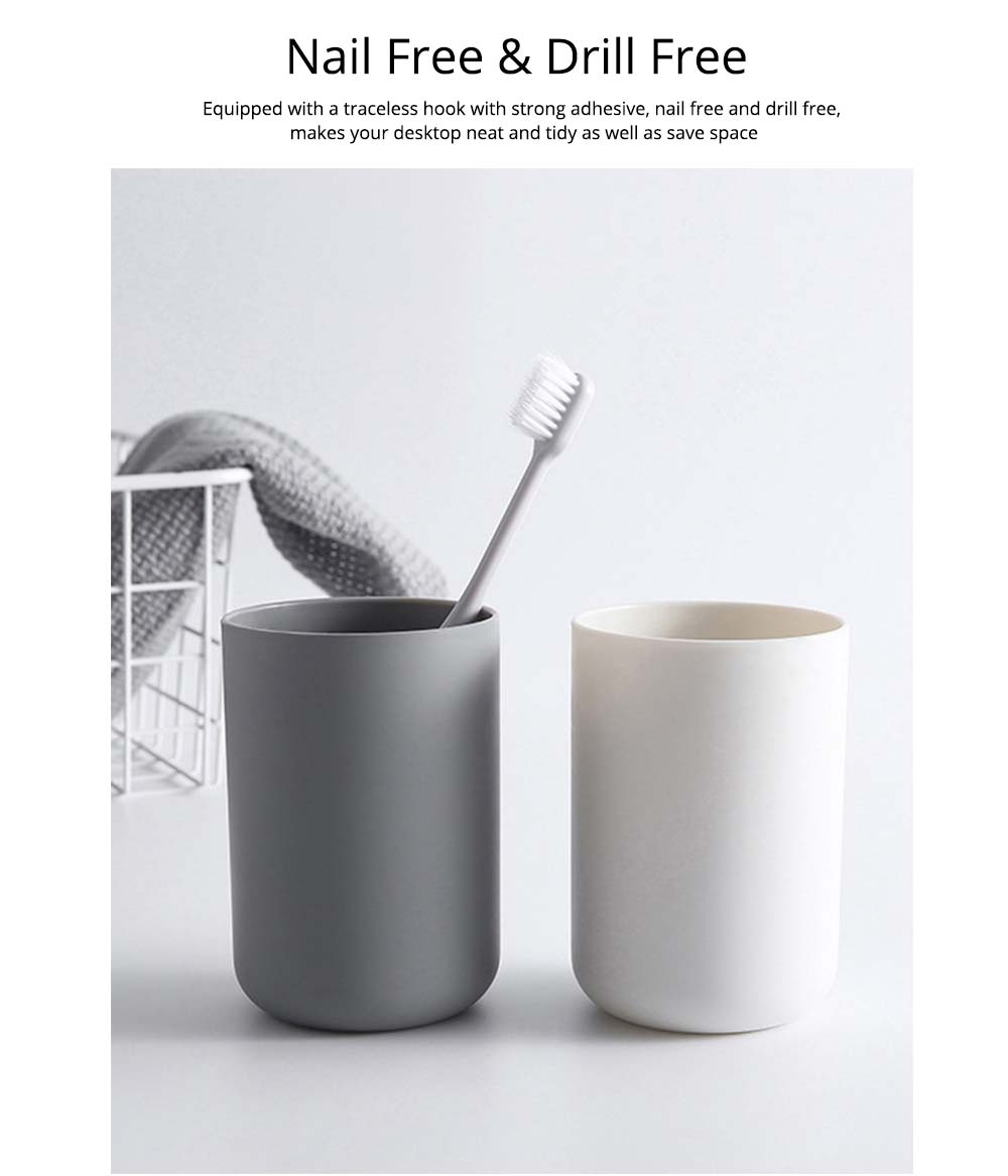 Wall-mounted Toothbrush Holder, Toothbrush Cup, Elegant Color Mouth Cup 2