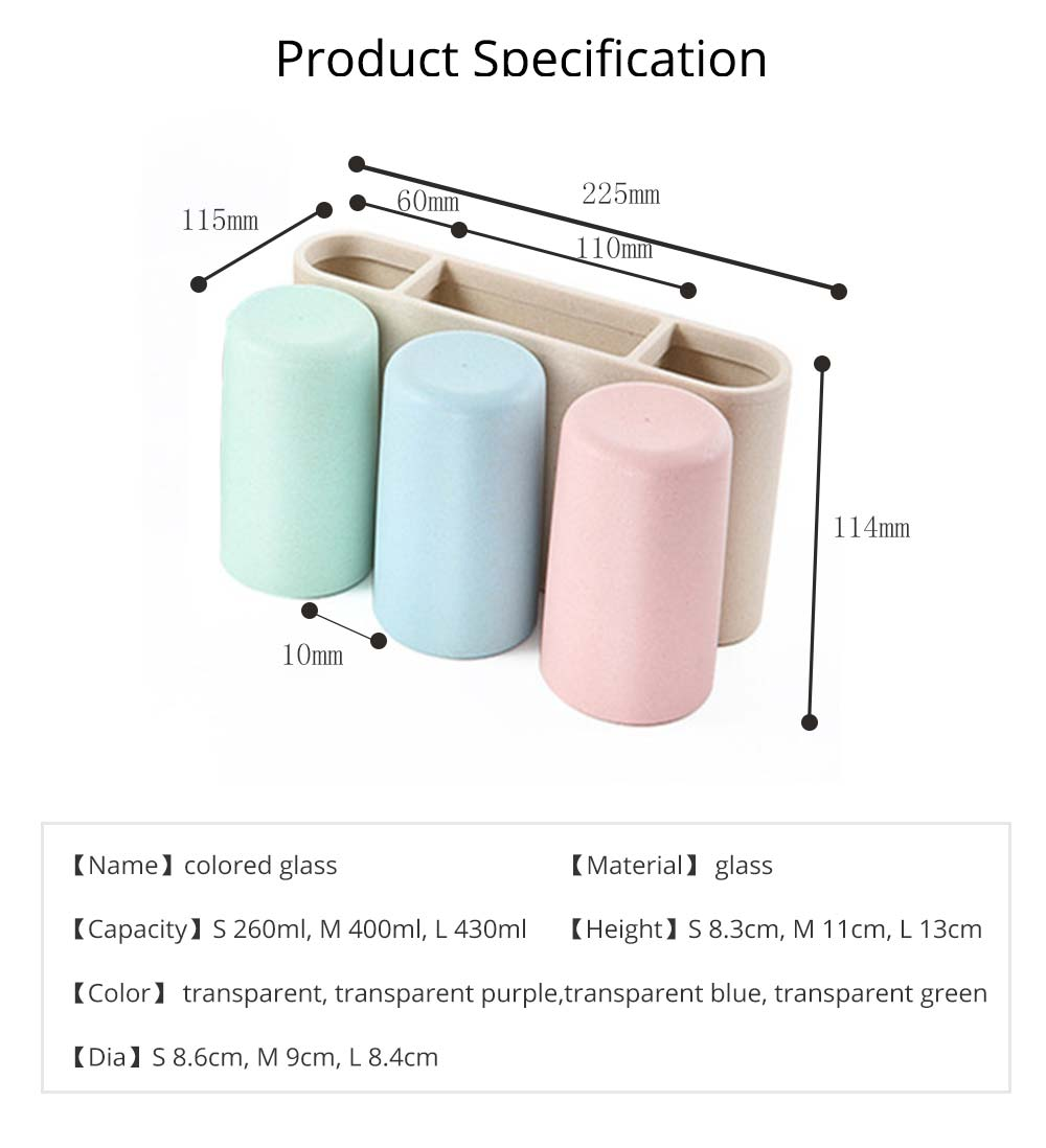 Toothbrush Holder Wall Mounted for Bathroom, Eco-friendly Degradable Wheat-straw Toothbrush Cups Set 10