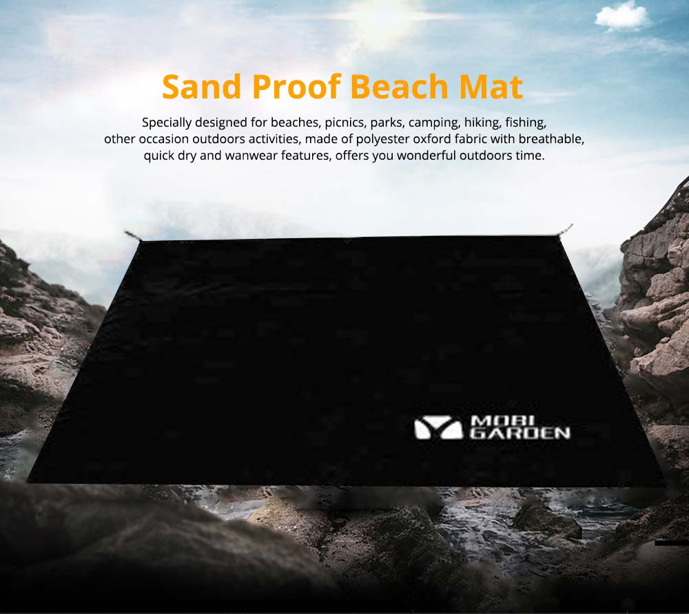 Sand Proof Beach Mat, Universal Flodable Waterproof Outdoors Beach Mat for Camping Picnic Hiking 0