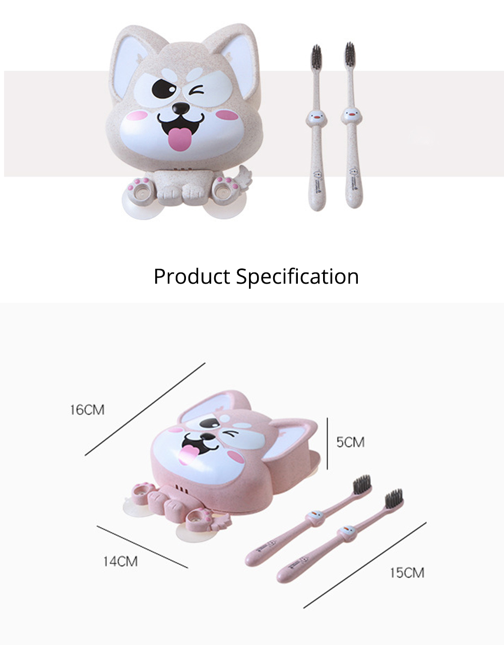 Wall Mounted Toothbrush Hanger for Bathroom, Fox Shape Toothbrush Holder for Family Couples Roommates Use 9