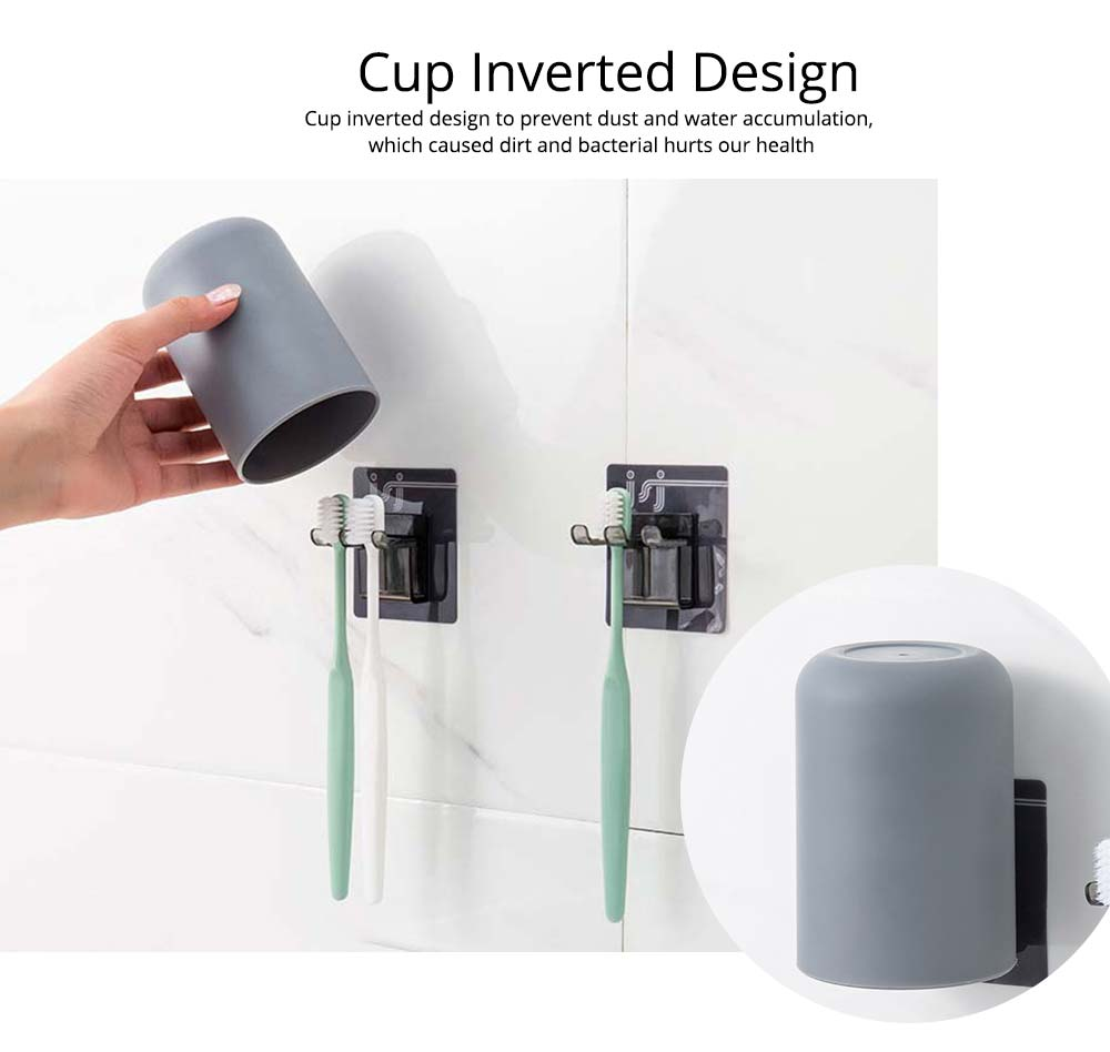 Wall-mounted Toothbrush Holder, Toothbrush Cup, Elegant Color Mouth Cup 4