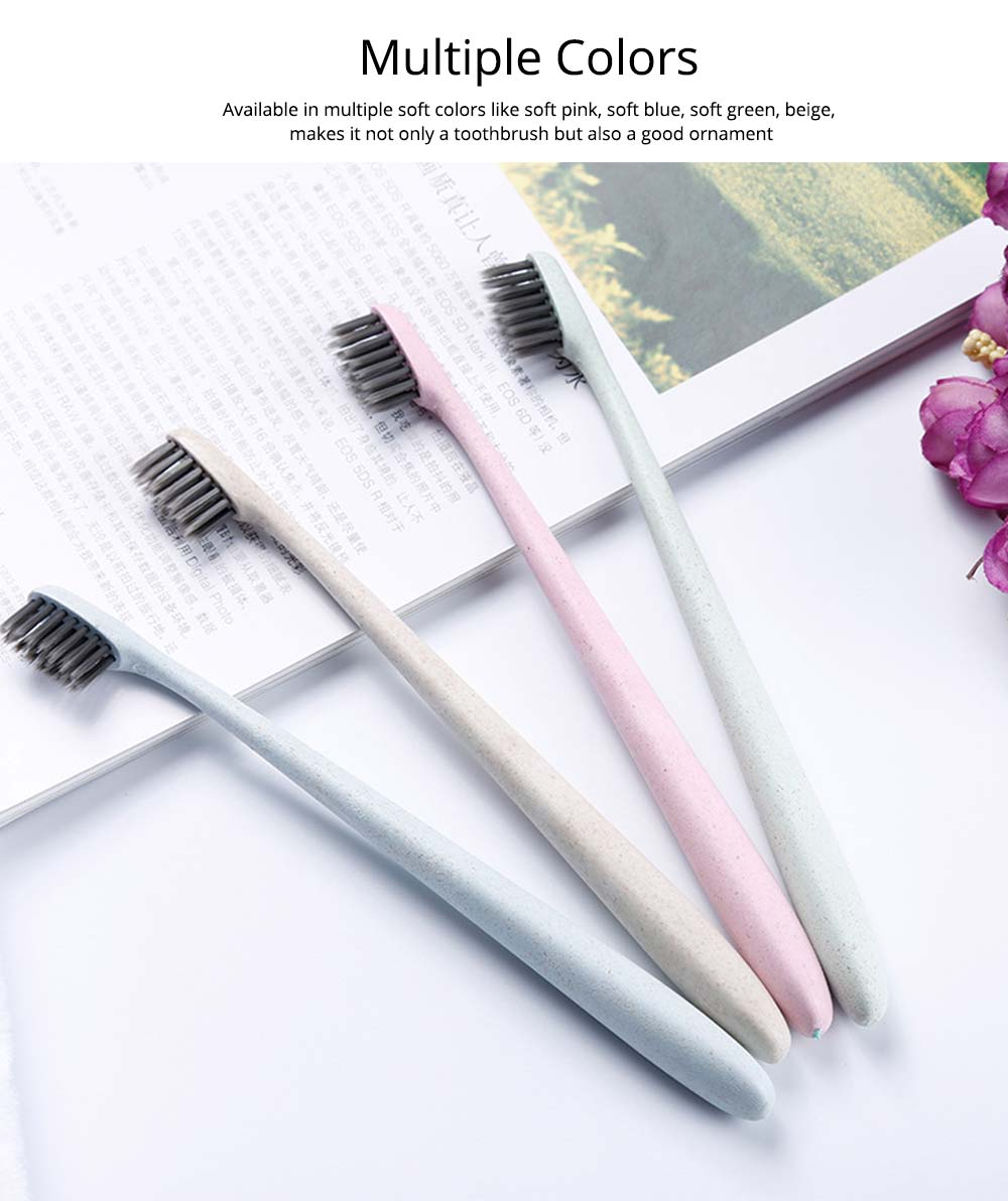 Disposable Toothbrush with Storage Case, Ultra Soft Bamboo Charcoal One-off Toothbrushes , Universal Single Use Toothbrush for Hotel, Travel 6