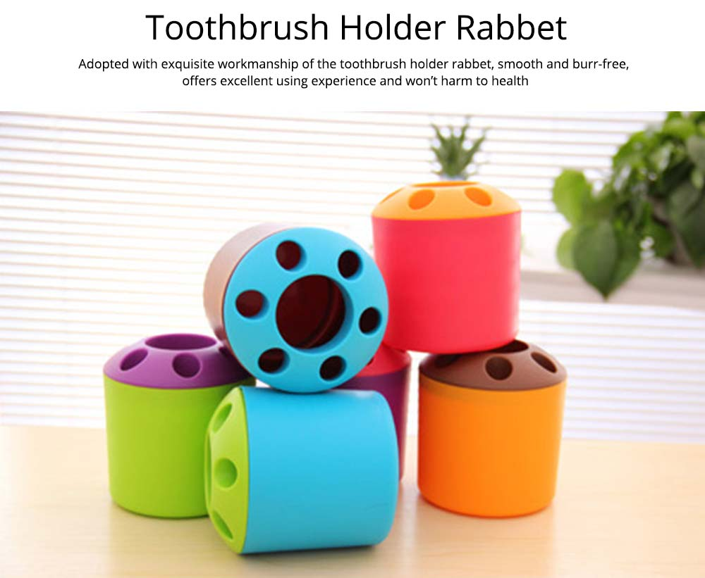 Toothbrush Holder with Cover, Household Travel Dormitory Use Toothbrush Holder Set 4
