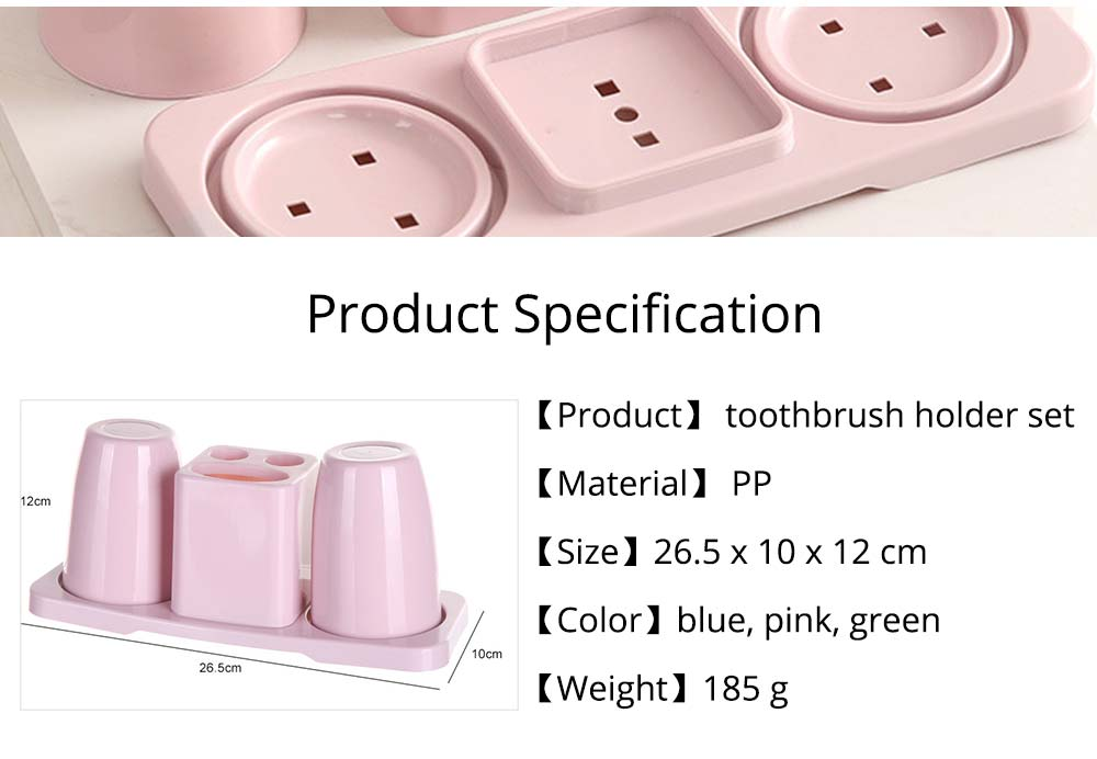 Toothbrush Holder with Cups, Bathroom Toothbrush Cups Organizer Set with Draining Rack for Couples Family Roommates 9