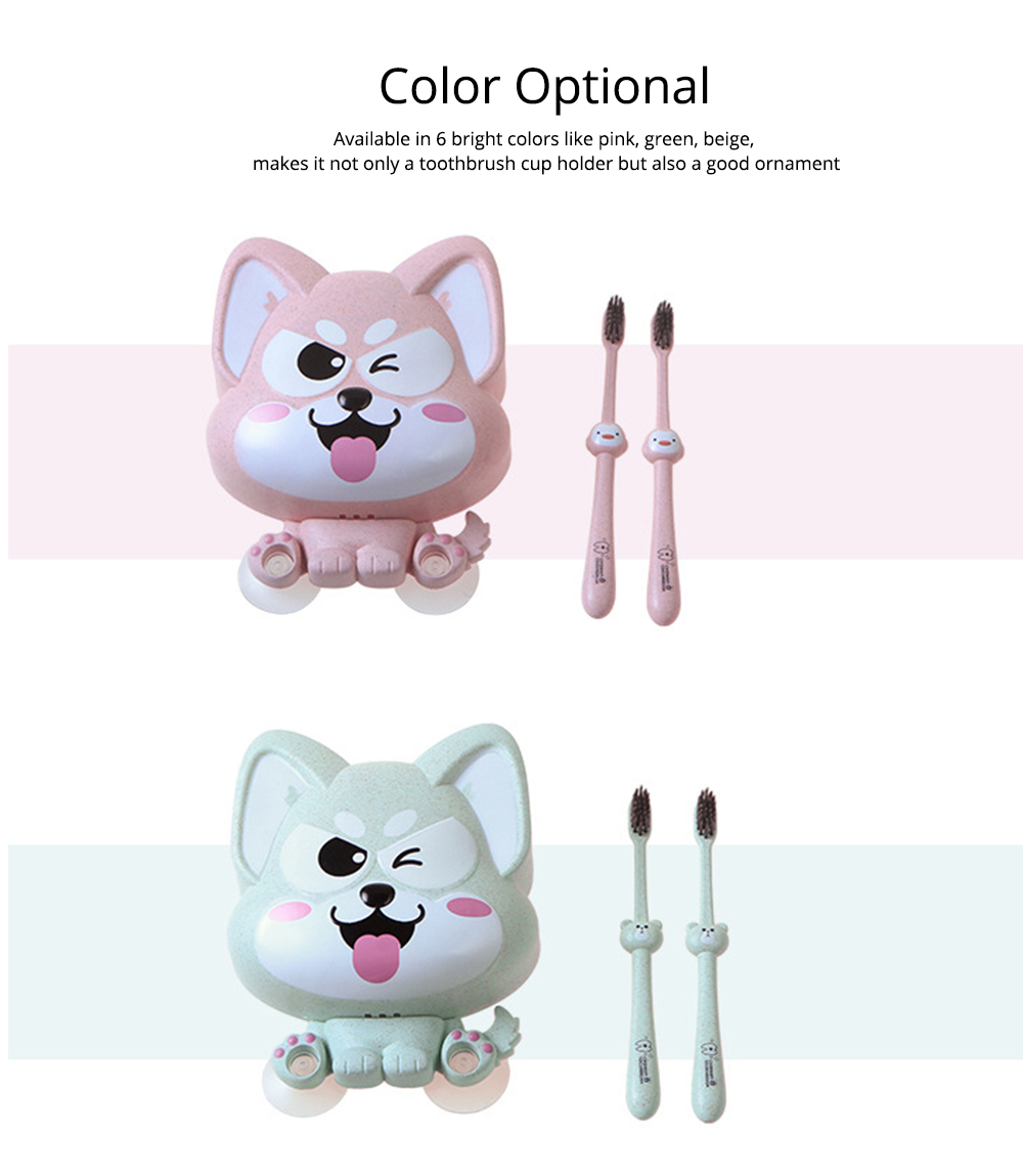 Wall Mounted Toothbrush Hanger for Bathroom, Fox Shape Toothbrush Holder for Family Couples Roommates Use 8